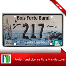 Minnesota CHIPPEWA INDIAN TRIBE License Plate,indian hot stamping blank reflective license plate