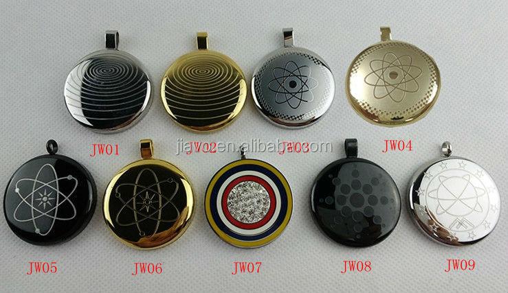 Gold black scalar energy quantum pendant with 4 energy stones inside 31 aloadofball Gallery