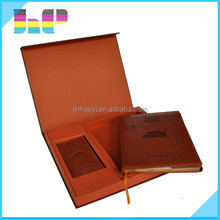 leather cover book with case printing colorful card with case printing