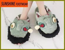 Monster soft fleece animal indoor slippers for men