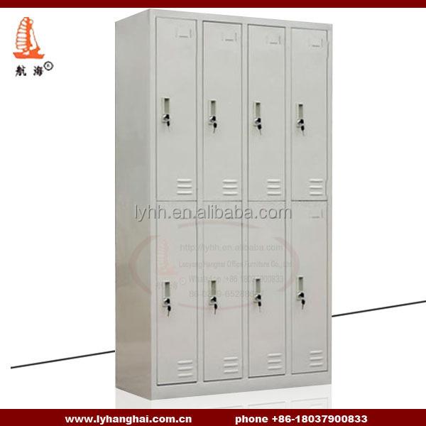 8 casiers armoire m tallique meubles vestiaire gym locker gris travail acier - Vestiaire metallique ikea ...