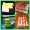 fluorescent yellow reflective elastic velcro arm band for sports