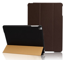 In Stock!Solid Color For iPad air 2 Case High Quality PU Leather Smart Cover Triple Folding Stand Leather Skin For iPad Air Case
