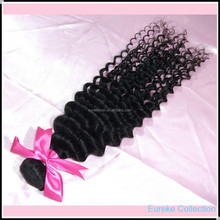 Golden supplier Eureke hair wholesale Indian virgin remy human kindy curl hair