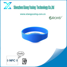 13.56Mhz Passive hf rfid wristband,nfc wristbands for events