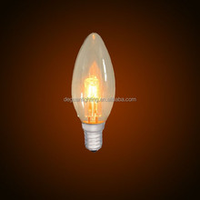 High quality decorative 18W/28W/42W energy-saving halogen bulb C35