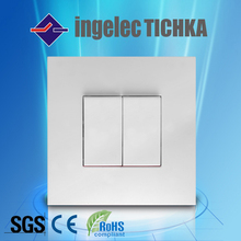 2 gang 1 way wall switch French PC ingelec africa