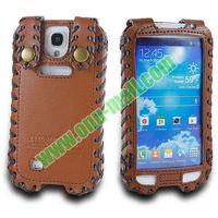 High Quality Elegant Duke Style Genuine Leather Case for Samsung Galaxy S4 I9500