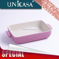 UNICASA microwave safe colorful ceramic small retangular dinner plate