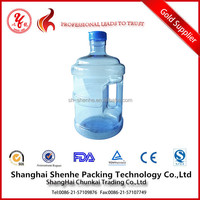 5 gallon plastic water bottle with handle