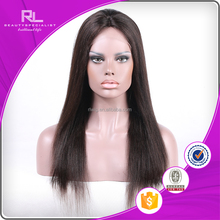 China manufacturer factory promotion price brazilian hair full lace wig with bangs