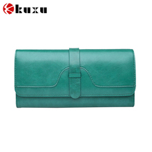 New fashion large capacity credit card holder soft genuine leather cluthch coin lady's purse