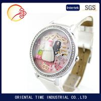 terpanas wanita jam tangan, Polimer tanah liat buatan tangan asli kuarsa kulit Korea Mini watch