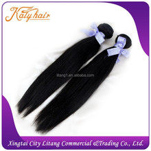 High quality silky straight human hair weft for asian 100% human Hair weaving