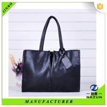 custom stylish a big black cheap PU purse