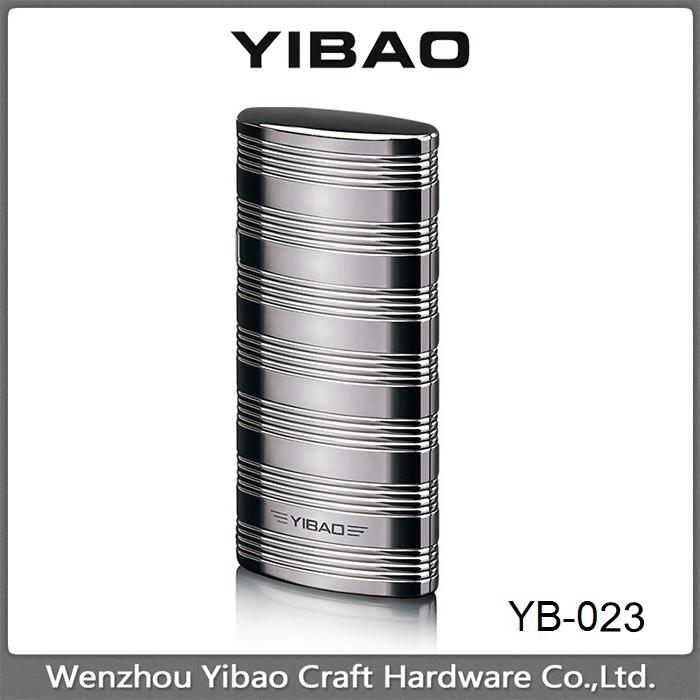 2017 alta calidad yibao ligero YB-023 aleación de zinc 6*2.8*1.1 cm stock encendedor