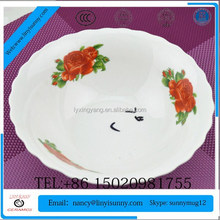 Hot Sale High quality ceramic bowl with handprinting wholesale