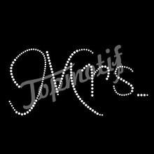 Hot Bling Mrs. Rhinestone Motif Letter Hotfix Motif Design Wedding Dress Embellishments