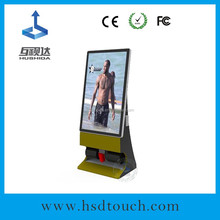 New Products 55 inch Lcd advertising clean shoes machine coin factory cheapest