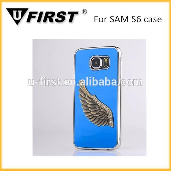 Asa de águia design caso mobile para samsung galaxy S6 caso