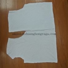 White cotton wiping rags (used) for industrial cleaning + high quality