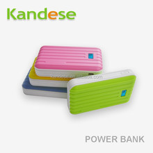 2015 new products Emergency universal portable powerbank Latest design luggage style super capacity double USB output power bank