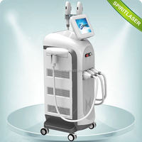 Powerful 3 in 1 Multi-function Machine Movable Screen 10HZ ipl laser hair removal&tattoo removal machine