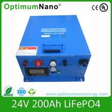 24V 200Ah lifepo4 24v200Ah battery pack for solar energy with BMS