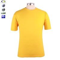 custom men high quality cheap tshirts &Wholesale man cotton plain yellow tshirt