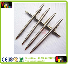 New arrival stainless steel rod rotating metal ballpoint pen commercial ballpoint pen gift stationery