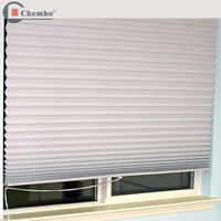 2015 china hot sale polyester fabric pleated blinds in good quality,fabric pleated blinds,polypleated blind curtain