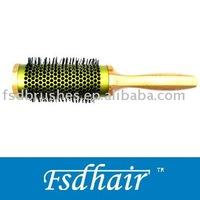 Bamboo aluminum barrel hair brush