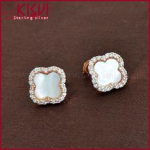 dolphin shape gemstone earring custom earring cards with logo 925 sterling silver rings