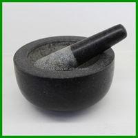 Starcharm Large Solid Granite Pestle And Mortar Set / Best Herb & Spice Grinder