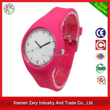 R1096 Good quality simple new style ladies watch, fashion soft silicone strap wholesales watch case