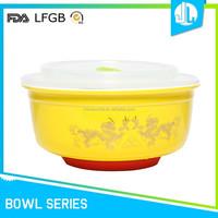 Eco-friendly cheap new plastic lid ceramic popcorn bowl