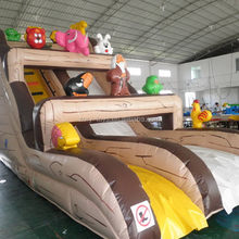 Excellent quality best selling beautiful inflatable tiger dry slide