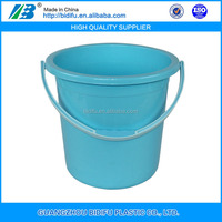 plastic cleaning water bucket pp pail with handle PP plastic pail