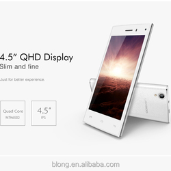 """LEAGOO Lead 3 MTK6582 Cell Phones 1.3GHz Quad Core 3G Android 4.4 Smartphone WCDMA Mobile 4.5"""" QHD IPS 4GB ROM"""