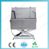 BS0710 Chinese stainless steel dog grooming bathtub with electric lift