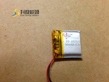 New selling!!! lithium 032323 li-polymer 3.7v 90mah lithium polymer batterey with PCB for digital products
