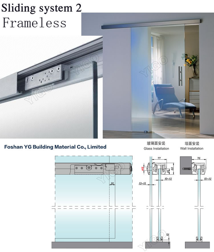 Sliding Glass Door Track Frameless Shower Doors