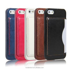 Retro Deluxe Leather Case for iphone5 5s Wallet Style with Card Holder Stand Design Phone Bag Cover