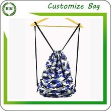 Hongway Drawstring canvas custom shopping tote bag pattern wholesale