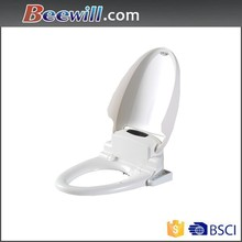 Plastic electronic toilet seat cover slow close