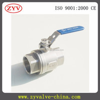 2 Piece Full Bore Ball Valve Stainless Steel BSPP