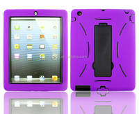 Popular wholesale top quality shockproof hard kickstand case robot defender hybrid PC and Silicone case cover for iPad mini