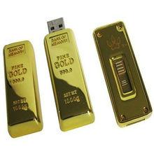 custom logo promotional gift usb flash drive gold bar 4gb 8gb 16gb 32gb