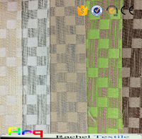 Waffle pattern polyester pure fabric for curtain, sofa, cushion