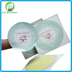 Custom size paper adhesive labels glossy cosmetic round sticker